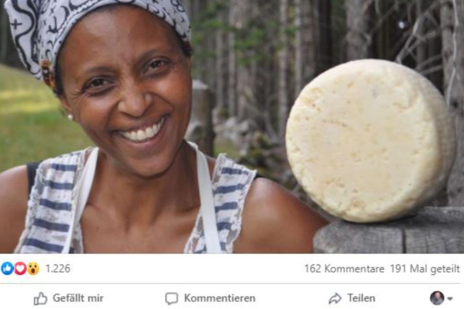 Agitu Idea Gudeta auf der Facebook-Seite ihres Bio-Hofes.