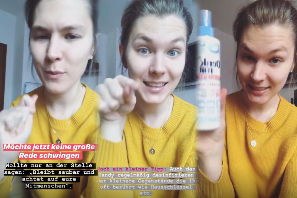 Ex-GNTM-Teilnehmerin Tatjana (23) gibt ihren Fans Hygiene-Tipps.