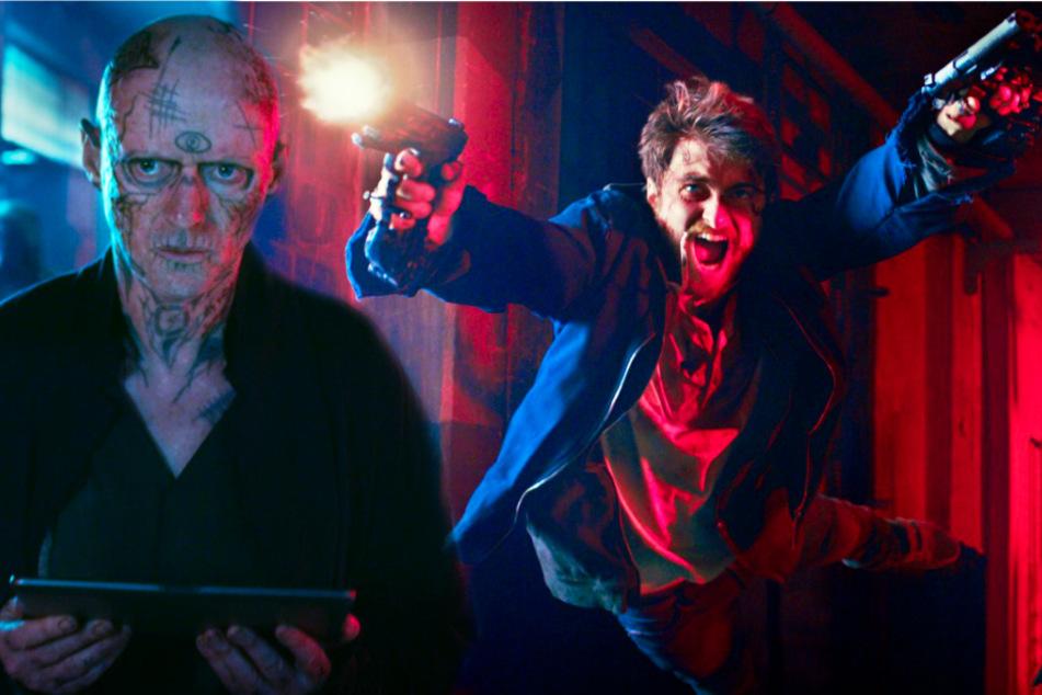 Miles Lee Harris (r., Daniel Radcliffe) muss sich mit Skizm-Anführer Riktor (Ned Dennehy) herumschlagen. Der ist ein echter Psychopath.