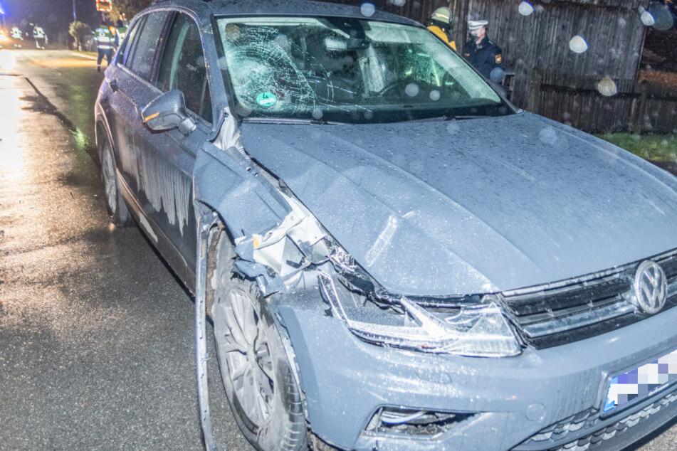 Ein VW-Fahrer hatte die kleine Familie offenbar übersehen und deshalb erfasst.
