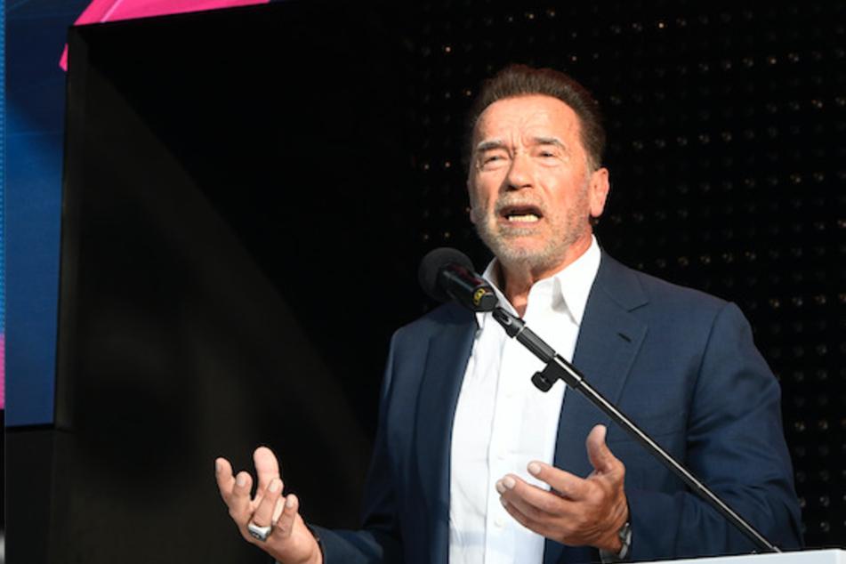 """Schwarzenegger war Redner bei der Digitalmesse """"Digital X"""" in Köln."""