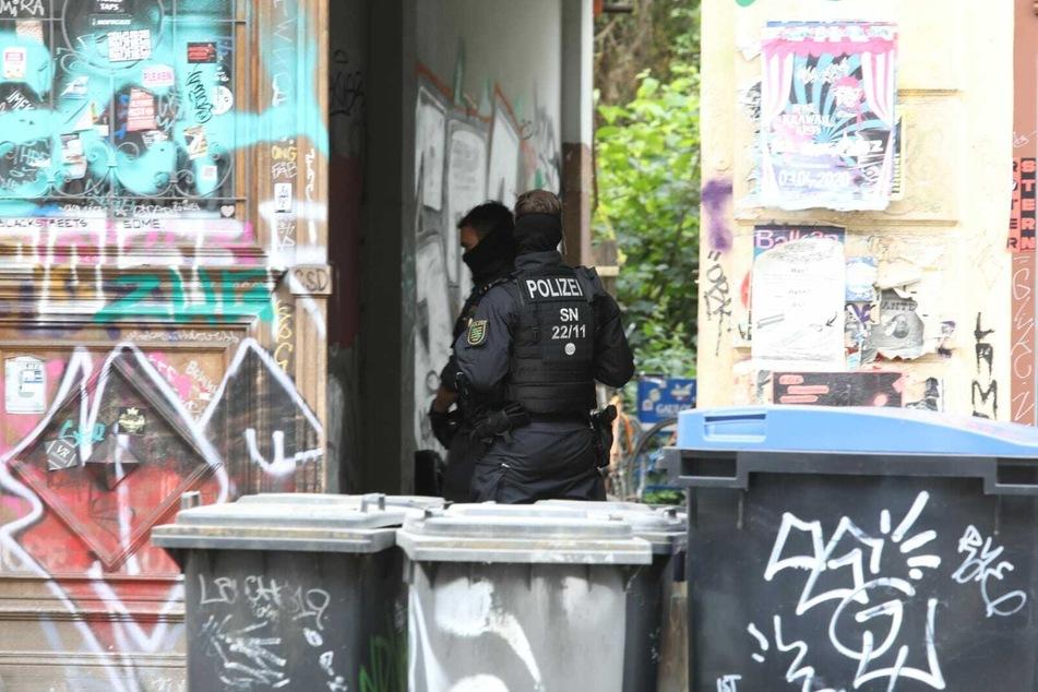 Razzia im Leipziger Linkenviertel Connewitz.