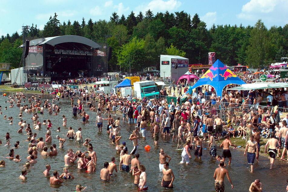 Rund 20.000 Besucher stürmten im Jahr 2003 den Chemnitzer Stausee.