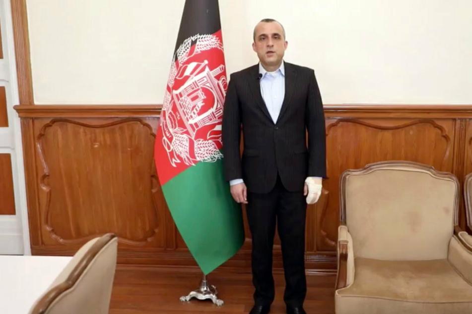 Amrullah Saleh, Vizepräsident von Afghanistan, steht in seinem Büro.