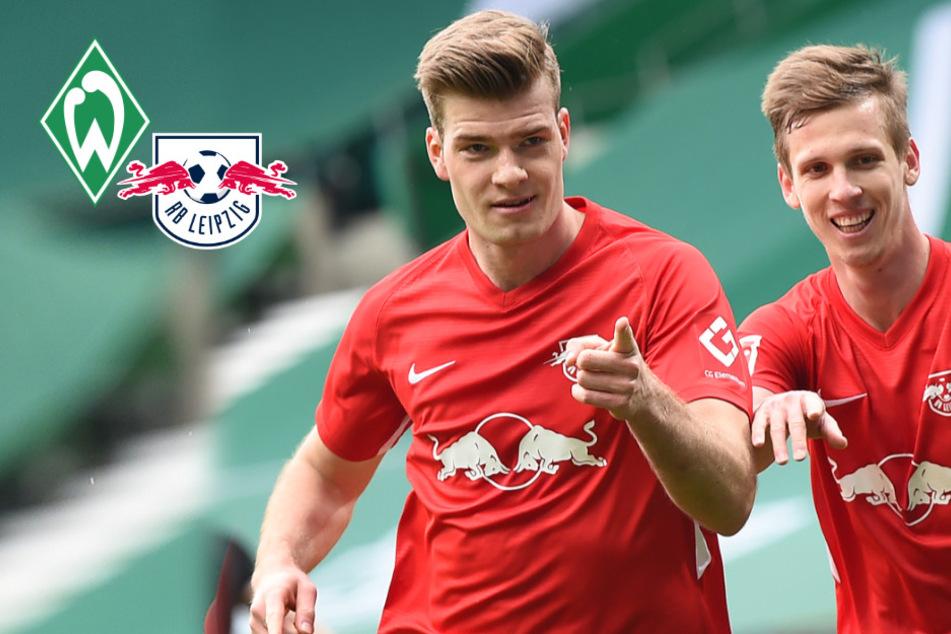 Debüt-Doppelpacker Sörloth hält RB Leipzig im Meisterrennen