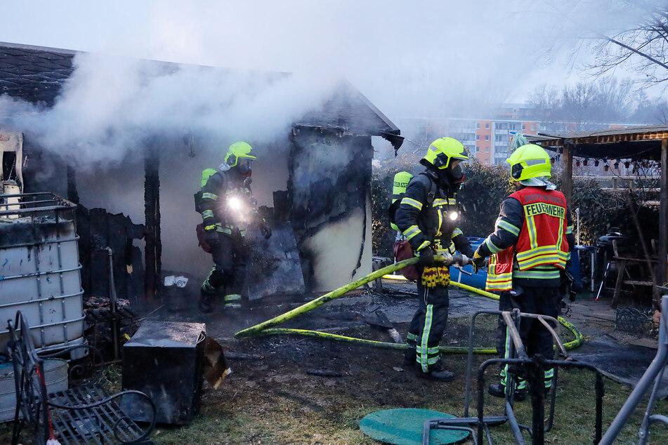 Im Kleingartenverein Rosarium e.V. brannte am Montagmorgen eine Laube.