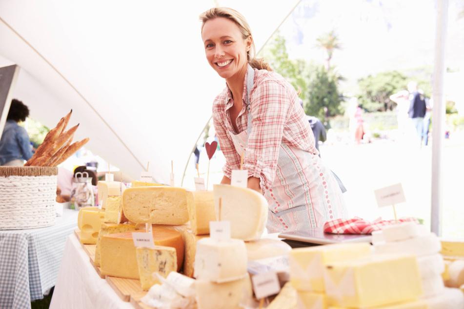 Der Sächsische Käse- und Spezialitätenmarkt bietet wieder Leckeres aus der Region an.