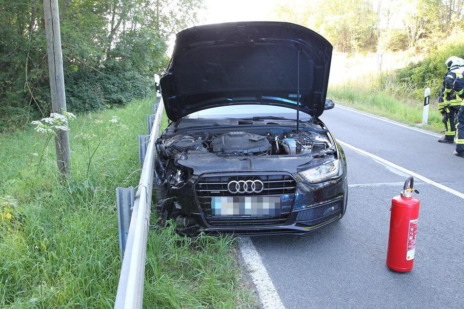 Ein Audi A3 ist am Freitagabend mit einem Audi A4 zusammengstoßen.