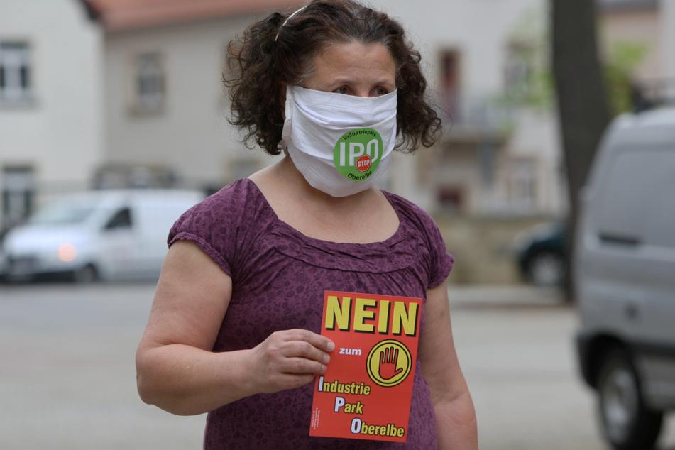 Birgit Biermann aus Meusegast ist eine Kritikern des IPO.