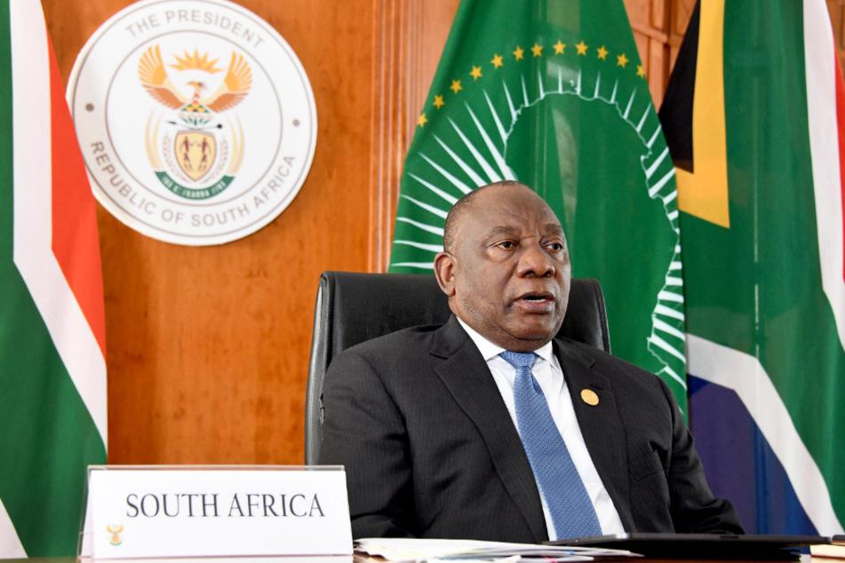 Cyril Ramaphosa, Präsident von Südafrika, spricht beim China-Afrika-Gipfel zur Eindämmung der Corona-Pandemie.