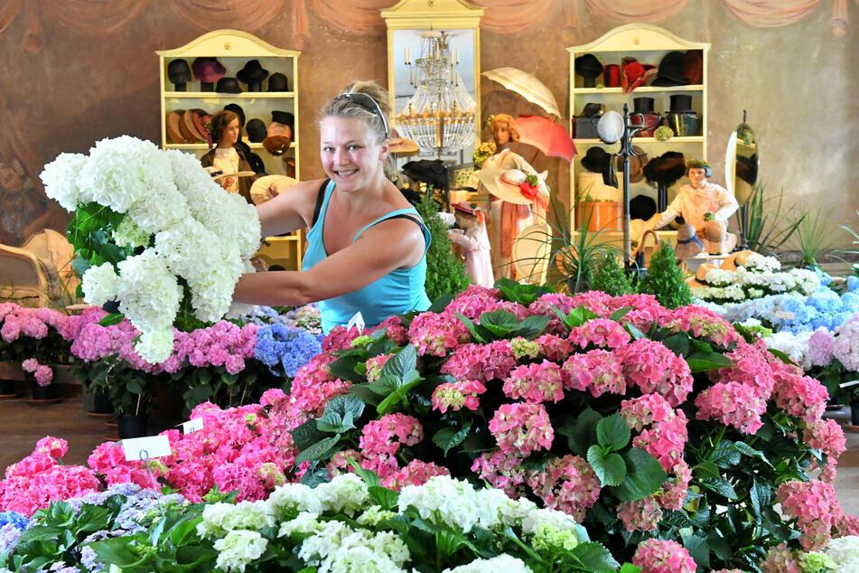 Gärtnerin Sylvia Bär (36) bei der Arbeit.