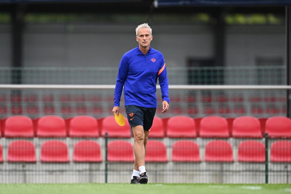 Xaver Zembrod (54) am heutigen Mittwoch beim RB-Training in Leipzig.