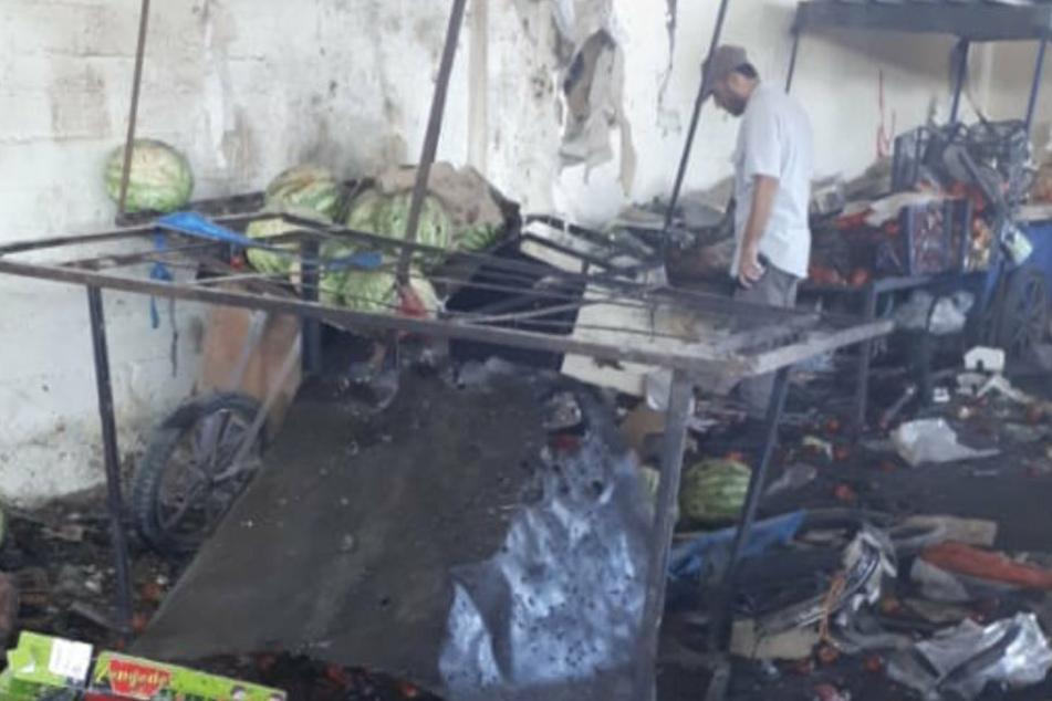 Das türkische Außenministerium teilte auf Twitter Bilder des Unglücks in Syrien.