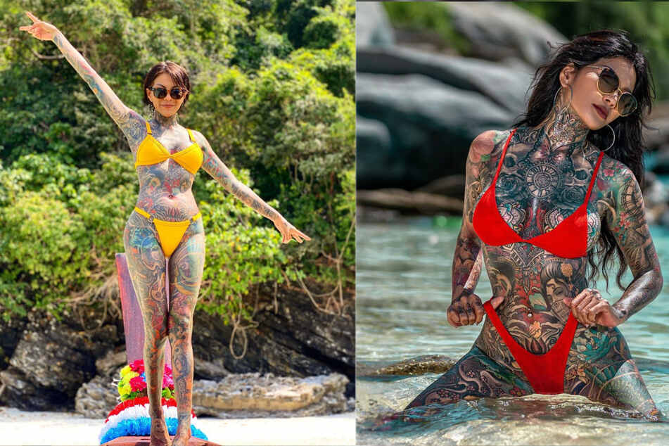 "Thai model is 98% tattooed: ""My body is a work of art!"""