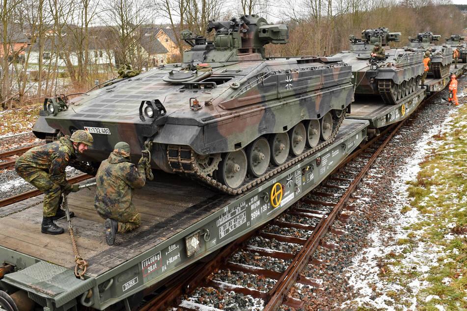 Soldaten des Panzergrenadierbataillons (hier im sächsischem Marienberg) in Brandenburg nahmen an dem Training teil.