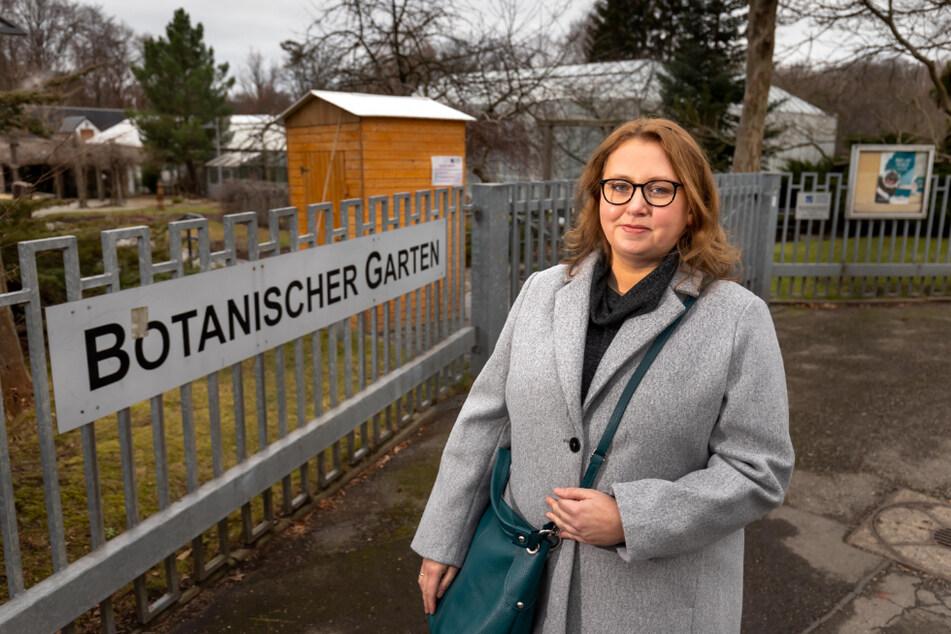 Stadträtin Solveig Kempe (40, CDU) fordert eine Aufwertung des Botanischen Gartens.