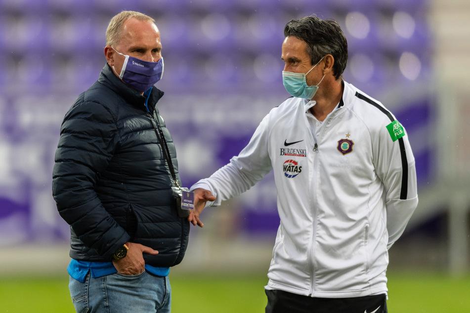 Einen kleinen Seitenhieb an Trainer Dirk Schuster gab es auch von Präsident Helge Leonhardt.