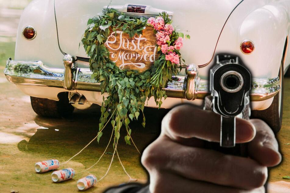 Statt Hochzeitsfeierlichkeiten kam es zunächst einem Polizeieinsatz, nachdem Schüsse zu hören gewesen waren. (Symbolbild)