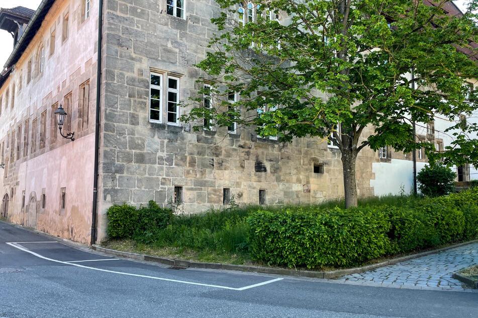 Auf dieser Wiese vor einem ehemaligen Kloster in Langenzenn wurde das Neugeborene gefunden.