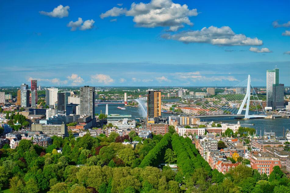 Blick auf Rotterdam.