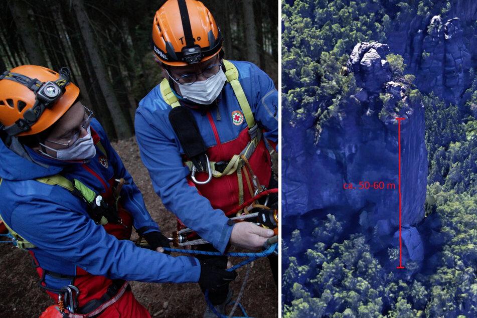 Der Wanderer lag am etwa 50 Meter tiefer gelegenen Wandfuß – ein Arzt konnte kurz darauf nur noch seinen Tod feststellen. (Symbolbild)