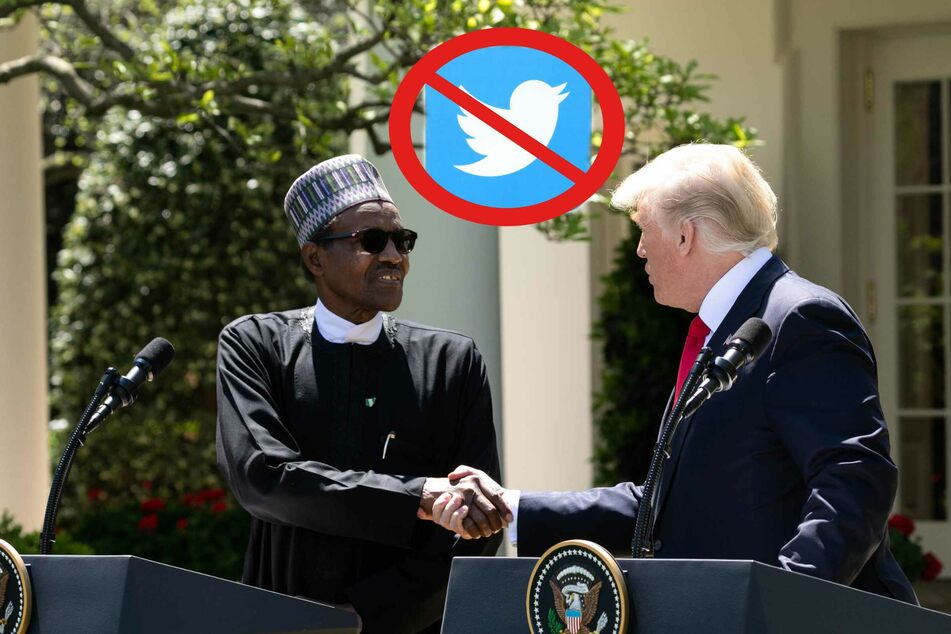 Ex-President Donald Trump (r.), and President Muhammadu Buhari of the Federal Republic of Nigeria met at the White House in 2018.