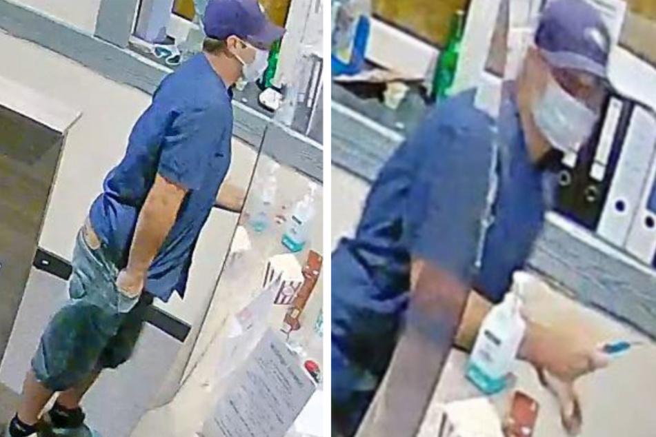 Der Täter bedrohte eine Angestellte mit einem Teppichmesser und zwang sie so, ihm das Bargeld aus der Kasse zu übergeben.
