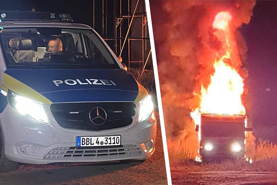 Brandstifter fackelt in Kyritz Wohnwagen ab und legt Feuer an Einfamilienhaus