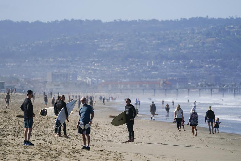 Die Strände in L.A. werden am Wochenende wieder geschlossen.