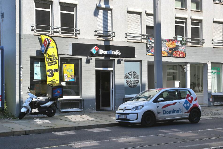 Vor diesem Pizzadienst in der Friedrichstadt rastete Patrick laut Anklage auch aus.