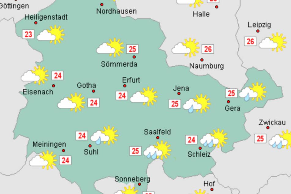 Am Wochenende wird es zwischen 24 und 27 Grad warm.