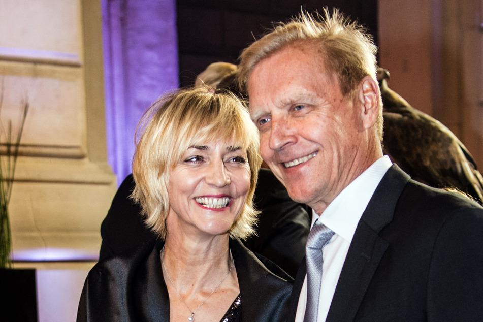 Heike Drechsler (56) und ihr Mann Arto Bryggare (62), hier im Jahr ihrer Hochzeit 2018, kennen sich schon seit über 30 Jahren. (Archivbild)
