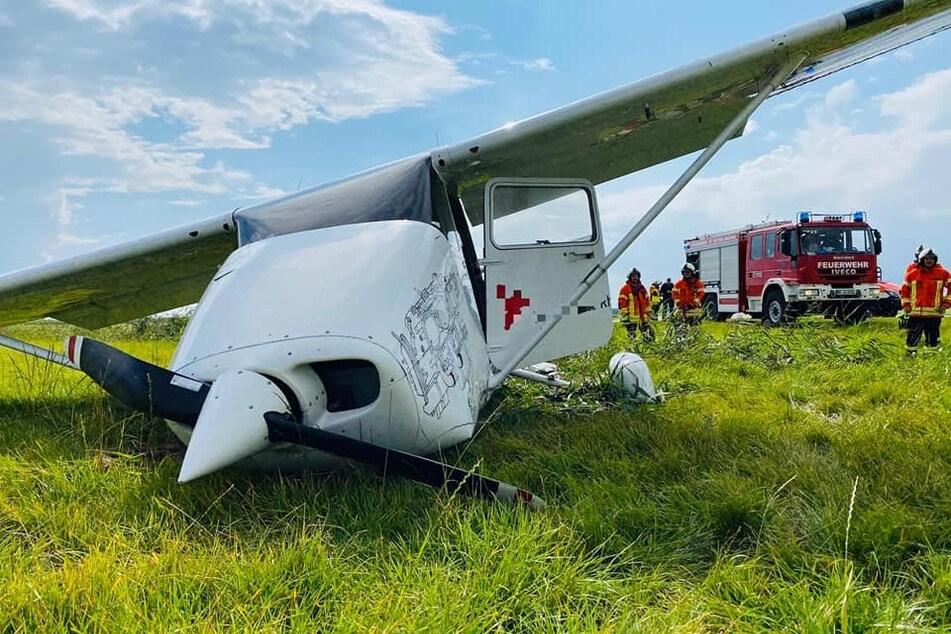 Flugzeug verunglückt bei Landung in Sankt Peter-Ording