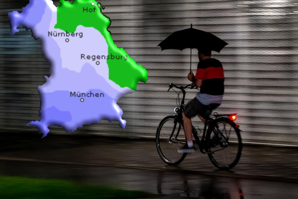 Über Bayern ziehen am Samstag heftige Gewitter. (Symbolbild)