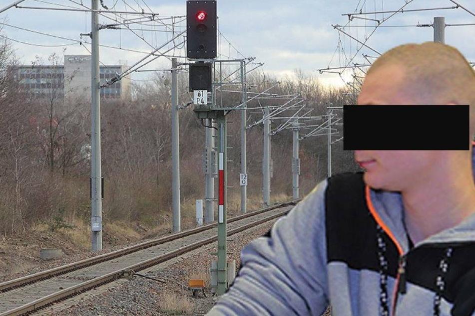 Lebensgefahr. Warf er Steinblöcke vor Züge?