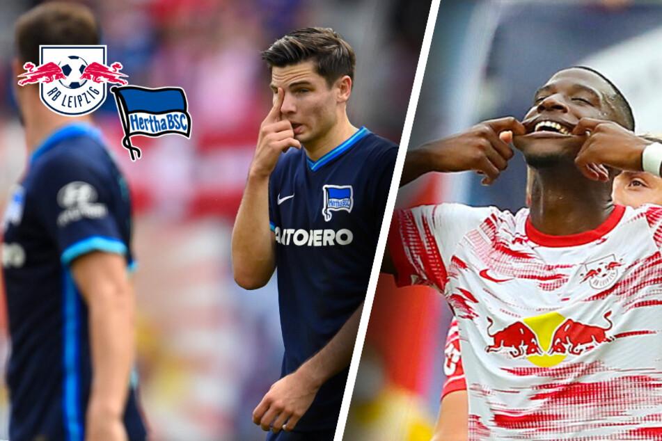 Krise adé? RB Leipzig ballert Hertha BSC mit Kantersieg aus dem Stadion