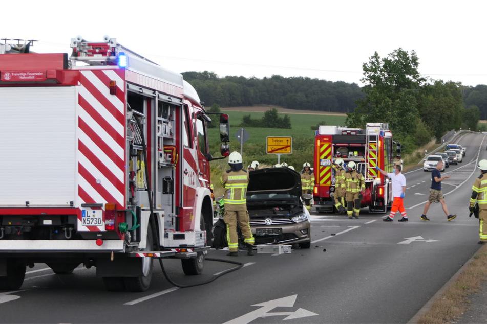 Feuerwehr und Polizei mussten zum Unfallort anrücken.
