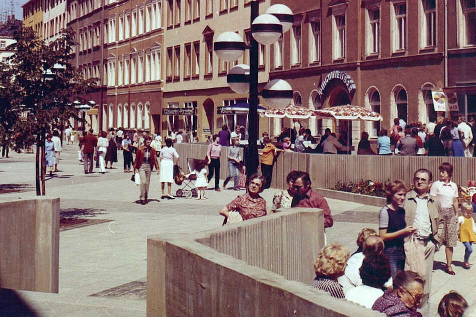 In den 80er-Jahren war der Brühl-Boulevard die beliebteste Chemnitzer Flaniermeile.