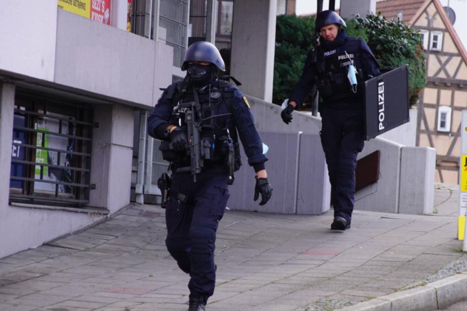 Starke Kräfte waren am Mittwoch in der Innenstadt von Winnenden unterwegs.