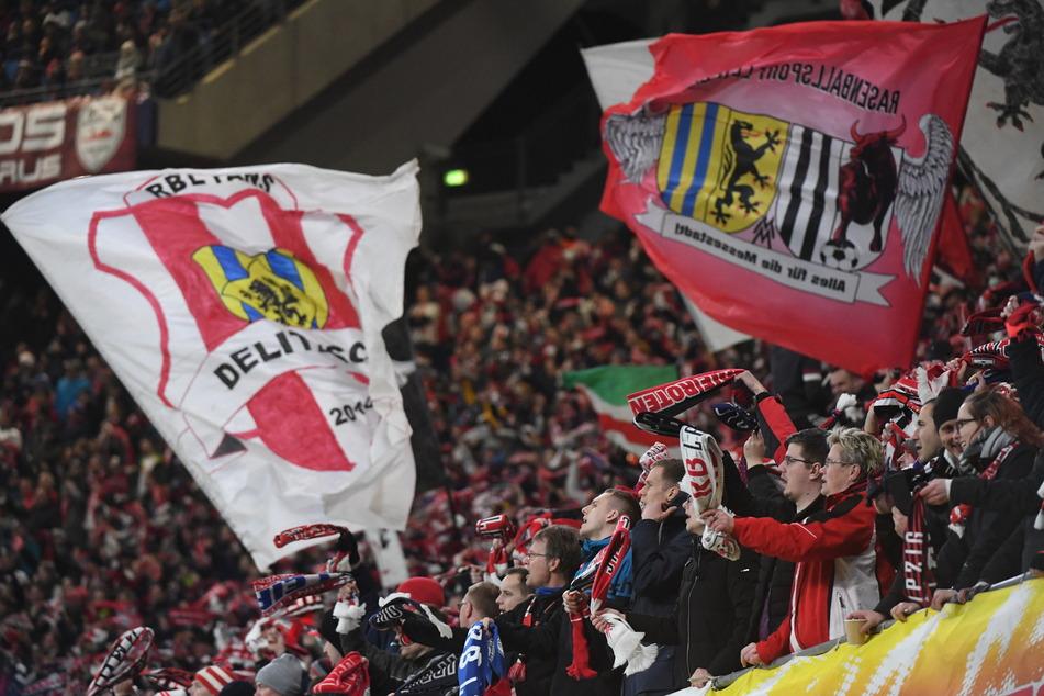 Zuschauer beim Spiel zwischen RB Leipzig und Tottenham Hotspur Anfang März in der Red Bull Arena.