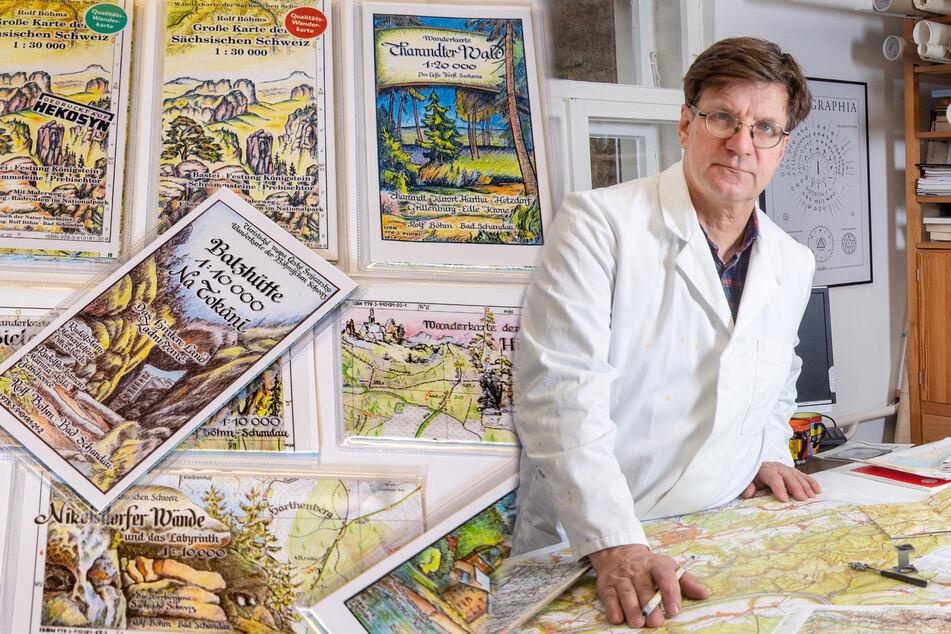 Dresden: Der Letzte seiner Art: Das ist Sachsens einziger Landkartenmaler