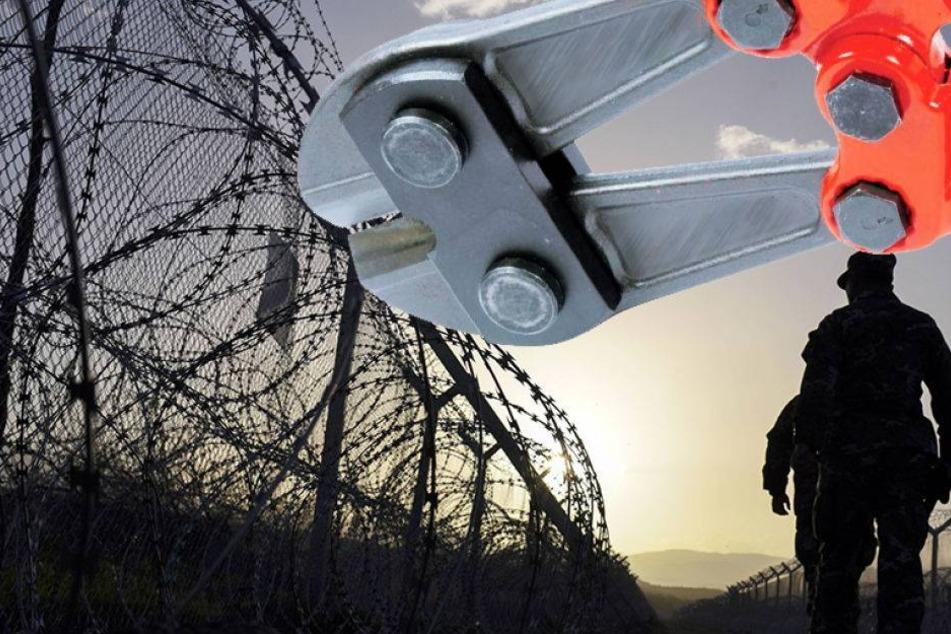 Werden Gratis-Bolzenschneider an der Grenze verteilt?