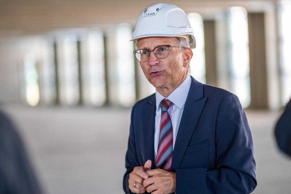 TU-Freiberg-Kanzler Jens Then freut sich auf den neuen Uni-Campus.