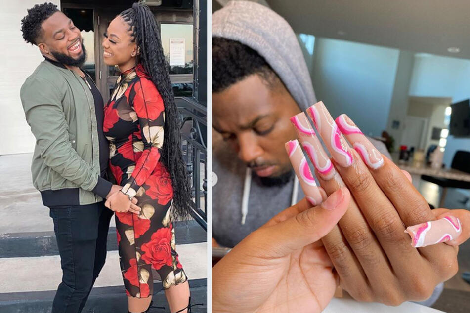Husband of the year: Man goes viral for graciously letting wife do his nails