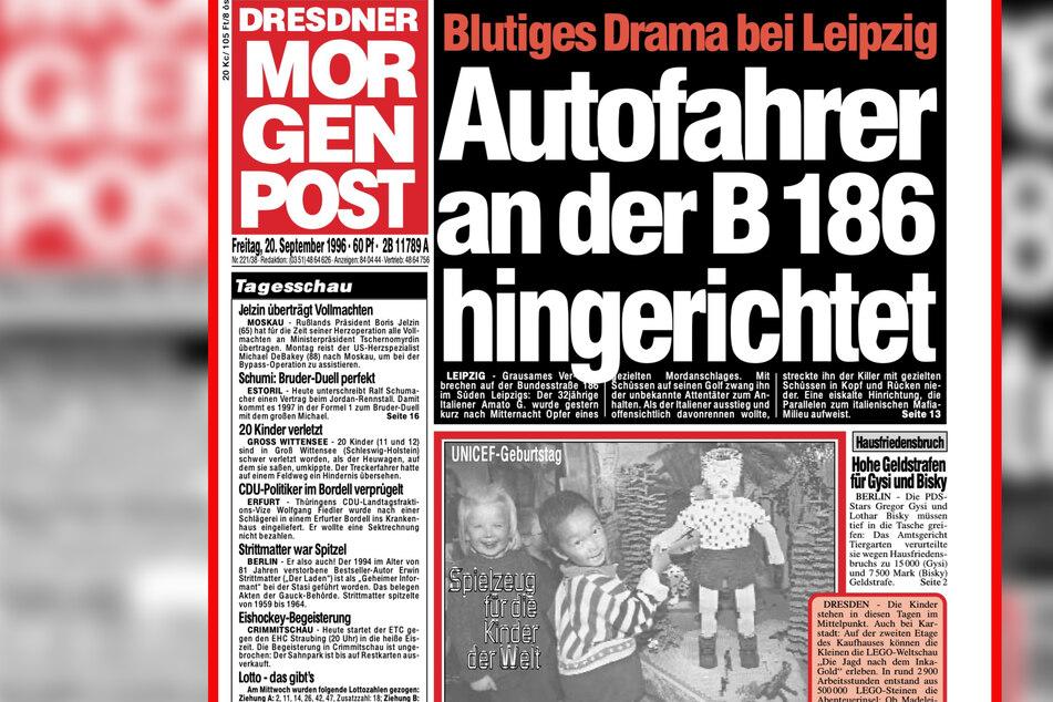 An der B186 unweit der Ortschaft Zitzschen wurde Girolamo Amato am 19. September 1996 hingerichtet. So berichtete die Morgenpost damals über den Mord.