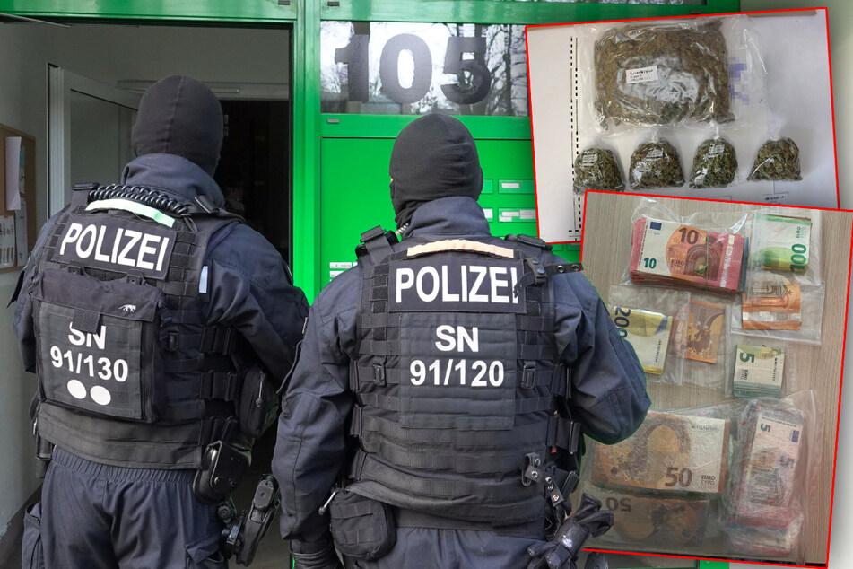 Chemnitz: Razzia in Chemnitz: Polizei schnappt mutmaßliche Drogendealer