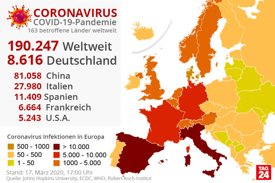Corona Infizierte Zahlen Weltweit