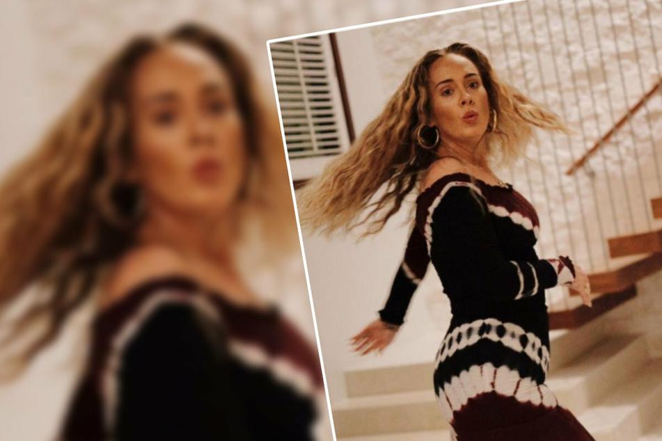 Erinnert stark an den tanzenden WhatsApp-Emoji: Sängerin Adele (33) gibt mit gleich drei neuen Fotos wie diesem auf Instagram Einblicke in ihr Leben.