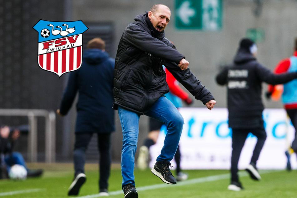 """""""Abstiegskampf pur"""": FSV Zwickau behält im Hexenkessel die Nerven"""