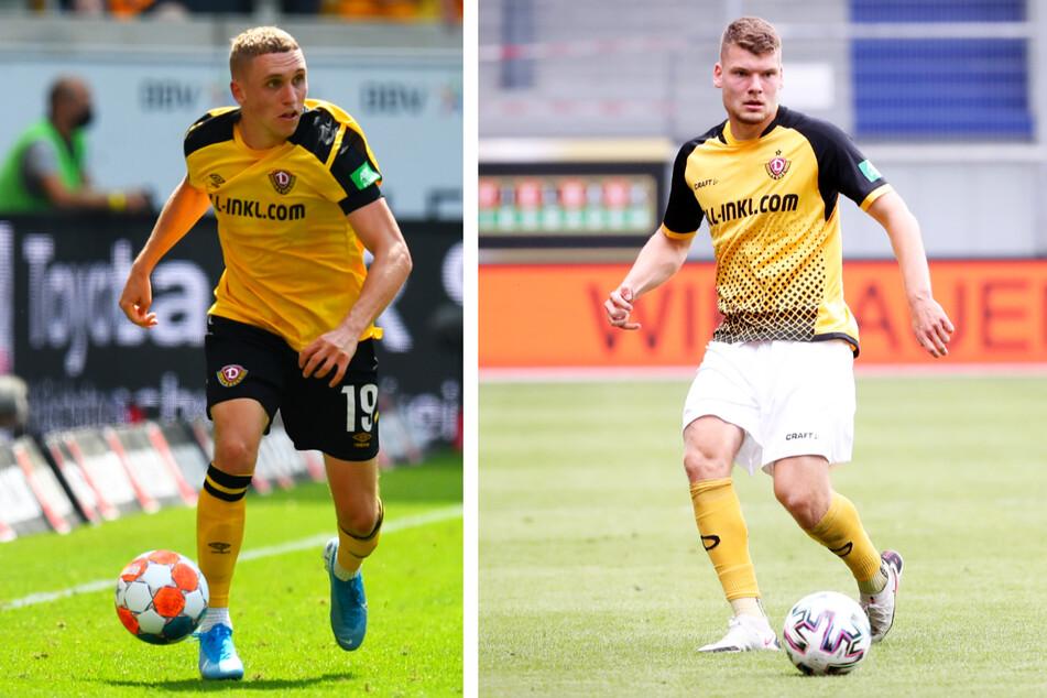 Luca Herrmann (22, l.) und Kevin Ehlers (20) können beide wieder mit dem Ball trainieren.